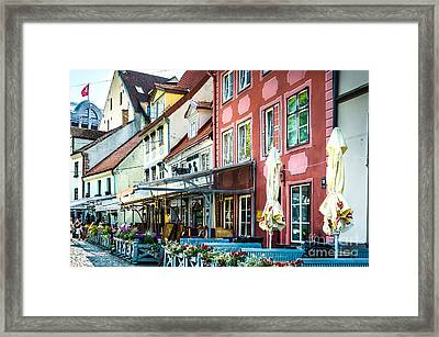 Restaurants In The Old Town Of Riga Framed Print by RicardMN Photography