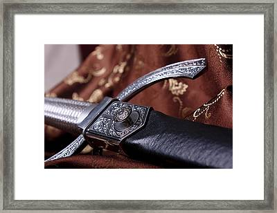 Rested Dagger Framed Print by Christin Burrows
