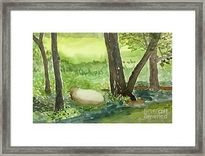 Restful Lamb Framed Print by Sheryl Paris