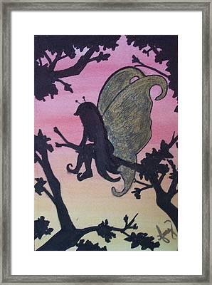Restful Sunset Framed Print by Amy Lauren Gettys