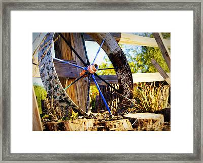 Resting And Rusting Framed Print