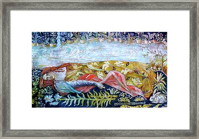 Resting By The Stream Framed Print