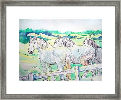 Framed Print featuring the painting Resting Giants by Jenn Cunningham