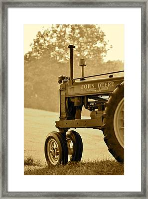 Resting In Sepia Framed Print