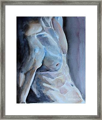 Resting Framed Print by Jindra Noewi