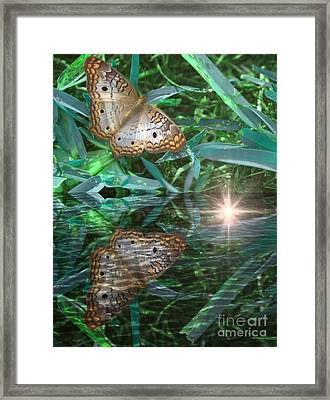 Resting On River's Edge Framed Print