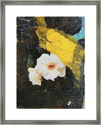Resting On White Framed Print