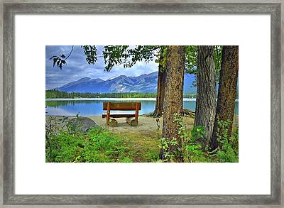Framed Print featuring the photograph Resting Place At Lake Annette by Tara Turner