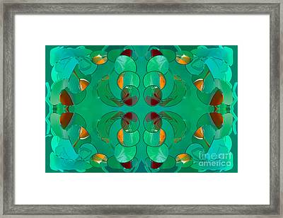 Resting Realities Abstract Art By Omashte Framed Print by Omaste Witkowski