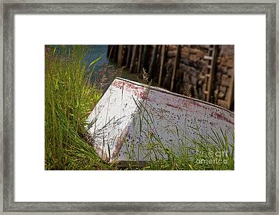 Resting Rowboat Framed Print by Susan Cole Kelly