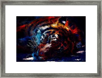 Resting Tiger Framed Print