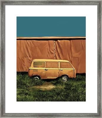 Resting Van Framed Print by Bekim Art