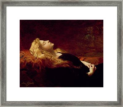 Resting Framed Print by Victor Gabriel Gilbert