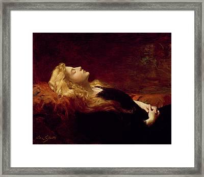 Resting Framed Print by Victor Gabriel Gilbert