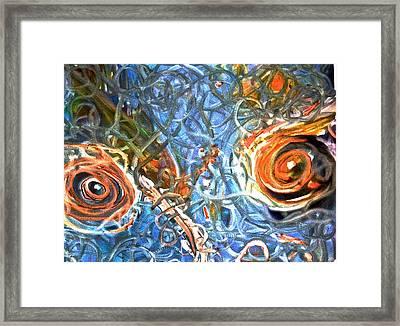 Restless Eyes Framed Print