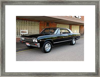 Restored Chevy Framed Print