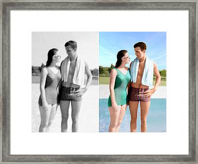 Restored/colorized 1959 Photo Framed Print by Harry West