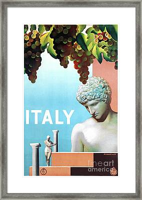 Restored Italy Vintage Travel Poster Framed Print