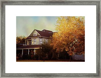 Framed Print featuring the photograph Restored Queen Anne Victorian by Toni Hopper
