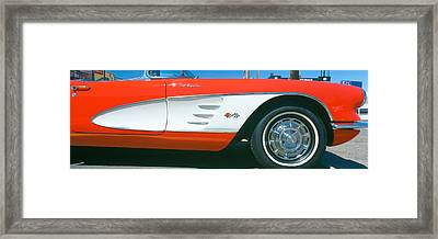 Restored Red 1959 Corvette, Fender Framed Print