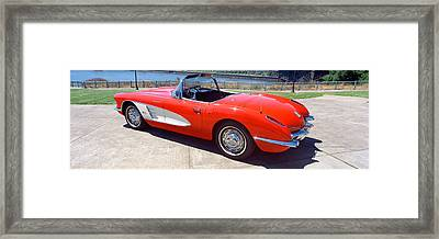 Restored Red 1959 Corvette, Side View Framed Print