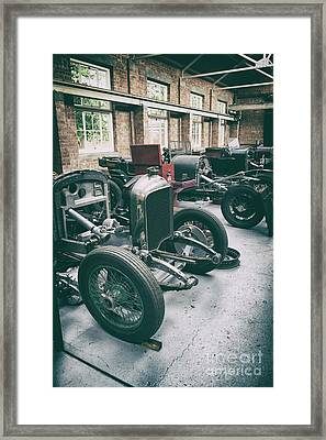 Restoring Vintage Bentleys Framed Print by Tim Gainey