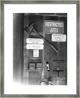 Restricted Area Framed Print by WaLdEmAr BoRrErO