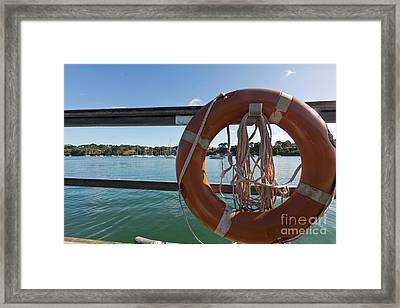 Restronguet Creek Life Saver Framed Print by Terri Waters