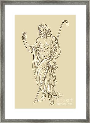 Resurrected Jesus Christ Framed Print by Aloysius Patrimonio