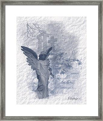 Resurrection Angel Framed Print by Jean Gugliuzza