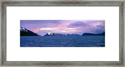 Resurrection Bay And Kenai Fjords Framed Print