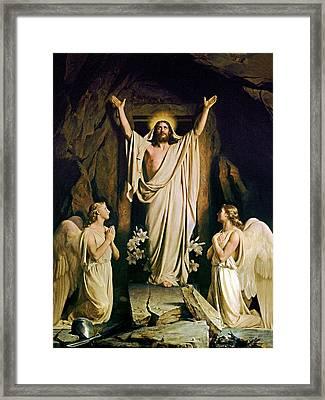 Resurrection Framed Print by Carl Heinrich Bloch