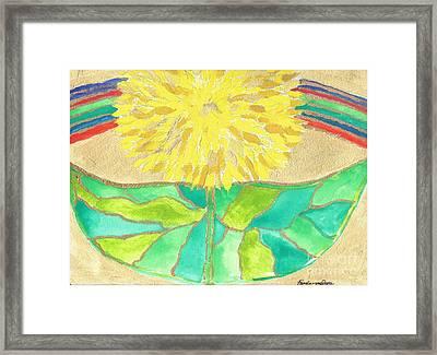 Resurrection Flower I Framed Print by Pamela Von Gizycki