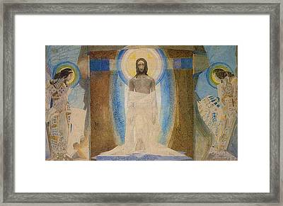 Resurrection Framed Print by Mikhail Aleksandrovich Vrubel