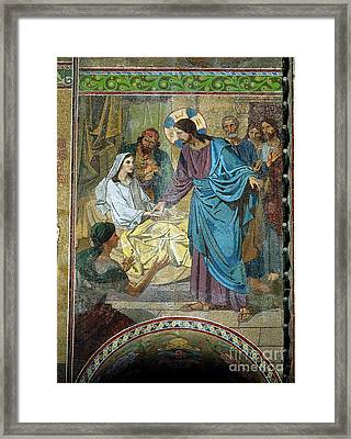 Resurrection Of Jairus's Daughter Framed Print by MotionAge Designs