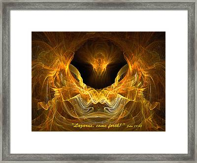 Framed Print featuring the digital art Resurrection by R Thomas Brass