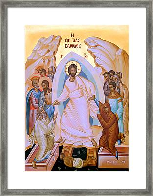 Resurrection Story Framed Print by Munir Alawi