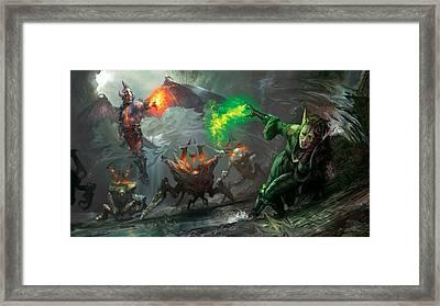 Retaliation Of Ob Nixilis Framed Print by Ryan Barger