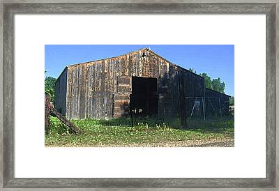 Framed Print featuring the photograph Retired Barn by Tammy Sutherland