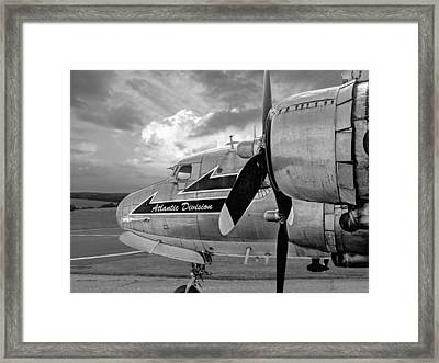Retired - Black And White Framed Print by Gill Billington