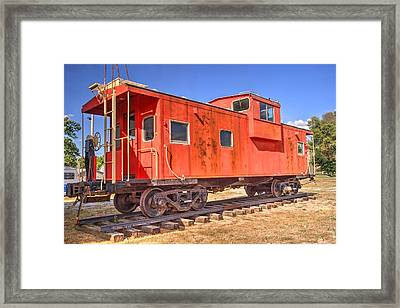 Retired Co Caboose Framed Print by Paul Lindner