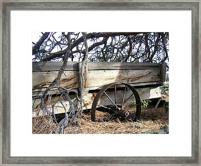 Retired Farm Wagon Framed Print