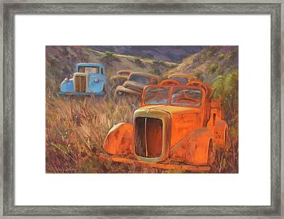 Retired Fireman Framed Print
