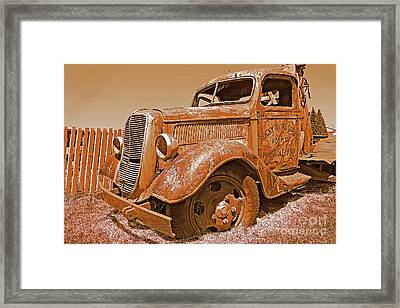 Retired Ford Truck Framed Print by Rich Walter