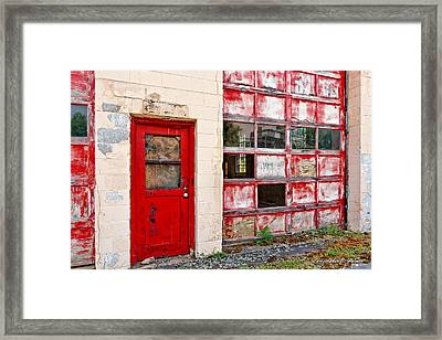 Framed Print featuring the photograph Retired Garage by Christopher Holmes