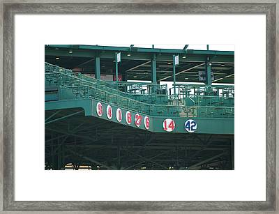 Retired Numbers Framed Print