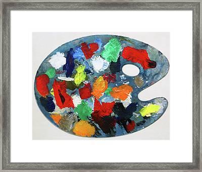 The Artists Palette Framed Print