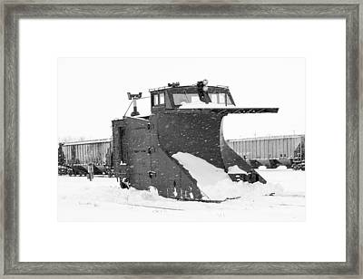 Retired Rail Plow Framed Print by Nick Mares