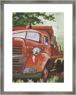 Retired Framed Print by Sandy Tracey