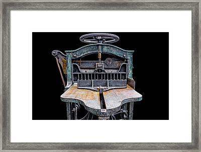 Retired Table Saw Framed Print by Joseph Sassone